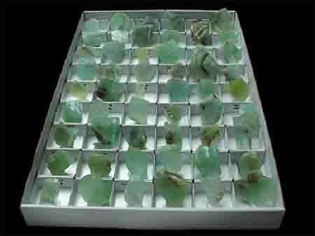 coleccion mineral calcita verde
